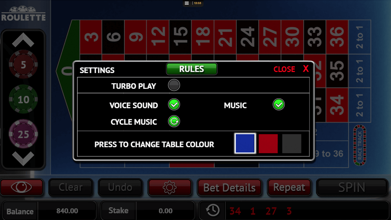 Roulette by Core Gaming